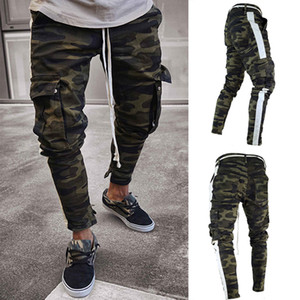 Men's Casual green camouflage cargo pants men  joggers slim fit pants men pantalons harem sweatpants pantalon