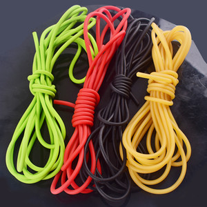 2020 New 5M*5mm Natural Latex Slingshots Rubber Tube for Outdoor Fitness Bungee High Elastic Tubing Band Tactical Catapult Bow