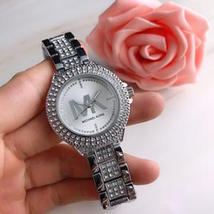 Moda Hot venda Mulheres relógio de luxo Lady Quartz Stell diamantes Strap completa olhos pequenos de cristal Relógio Masculino vestido Assista Elegante Sexy