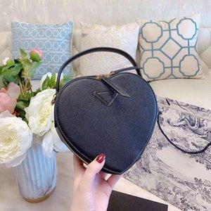 어깨 가방 여자 크로스 바디 심장 모양의 가방 크로스 바디 가방 지갑 핸드백 정품 가죽 가방 높은 품질의 가방 인기