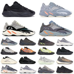 700 Kanye West Teal Azul Tênis de corrida Ímã Vanta analógico Para Mens Womens Static Mauve Solid Luxury Designer Shoes Tamanho 36-45