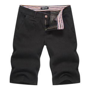 Les hommes de denim noir cinq pantalons jeans trou lâches pantalons jeans noir hommes hommes hommes de courte taille asiatique