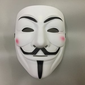 Horror de Halloween Cosplay del baile de disfraces del carruaje V-V máscara de la máscara de la máscara de pirata informático friki danza de los espíritus máscara de la cara masculina