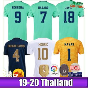 19 20 Real Madrid Fußball Jersey Benzema JOVIC MILITAO Modric Ramos Bale GEFAHR 2019 2020 erwachsenen Mann und Kinder Kit Frau Sport Fußball Shirt