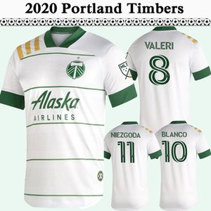 2020 2021 VALERI BLANCO Maillots Hommes Soccer Portland Timbers Niezgoda DIEGO CHARA Accueil Blanc Maillot de football à manches courtes Uniformes