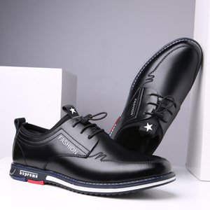 Winter Lace-up Shoes Elevator Shoes Mens Casual Shoes Korean Version of the Trend of British-Style Fleece-Lined Leather Men