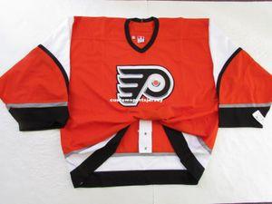 Günstige individuelle Philadelphia Flyers ORANGE DRITTE 6100 JERSEY GOALIE CUT 60 Stich hinzufügen können beliebig viele beliebigen Namen der Männer Hockey Jersey