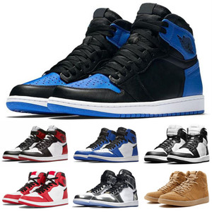 1 Chicago High OG Red White Hombres Retro Zapatos al aire libre 1S I Sports Sneakers Entrenadores de alta calidad 5-12 Tamaño al por mayor 36-47