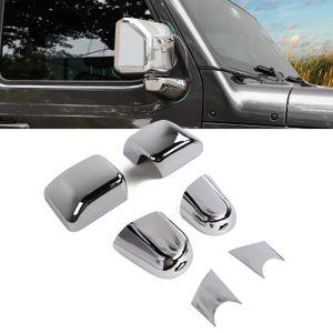 Car Mirror ABS posteriore a specchio Base copertura decorazione Chrome per Jeep Wrangler JL 2018+ Accessori auto esterni