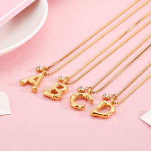 KALEN Moda Dubai ouro 26 Carta Pingente Colar inicial do For Women Stainless Steel nome de letra do 50 centímetros Cadeia Gargantilha Jóias presente