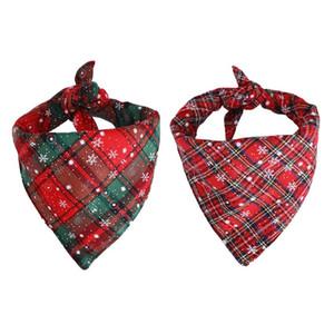 Рождество Pet шарф Бандана Снежинка плед треугольник луки Pet Принадлежности для Кот и Пес доставка DHL A03