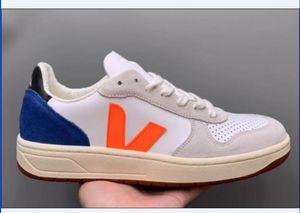 2019 al por mayor de la manera SUPERIOR VEJA ESPLAR zapatillas de deporte del cuero genuino de las vellosidades Dermis los calzados informales de lujo Superstar MensWomen Trainer 36-45