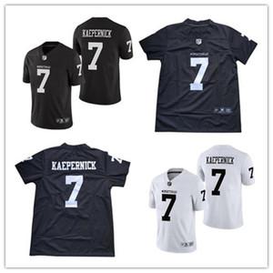 Duplo costurado Imwithkap Filme # 7 Colin Kaepernick Jersey Mens Eu sou COM KAP Jerseys Black White revela IMWITHKAP Jerseys S-3XL