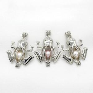 10 шт. серебряный цвет лягушка Oyster Pearl Cage ювелирные изделия из бисера клетка кулон духи эфирное масло диффузор медальон ожерелье