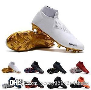 Nike chaussures de football à crampons Phantom VSN Elite DF FG AG VSN chaussures de football en plein air football EA Sports Phantom Vision de football