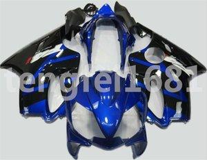 Новая литьевая форма ABS мотоцикл обтекатели наборы подходят для HONDA CBR600RR F4i 2004 2005 2006 2007 CBR600 F4i бесплатный пользовательский синий черный
