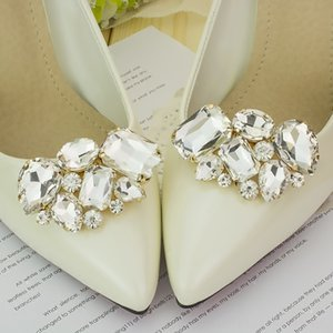 1 Couple Cargo free lady color flower Shoe Parts & Accessories buckle Strass crystal decorations clips shoe charms accessories