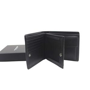 Com Femininos BOX Cartão Carteira de Crédito suporte de couro genuíno homem ocasional Carteira sacos de alta qualidade do negócio de dinheiro Clipe Coin Purse Portefeuille