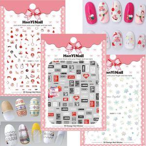 Bricolage Mode 3d Corée Marque Logo Nail Autocollants Auto-Adhésif Décoration Stickers Conseils Manucure Nail Art Stickers Autocollants Pour Ongles