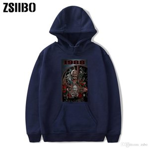 19 mens designer hoodies Halloween Hot Selling horror movie series Printed Round-neck Guard Clothes Leisure winter t shirts DHBOWY28