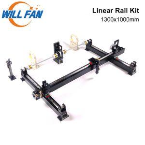 Will Fan 1300x1000mm hg15 DIY Guia Linear Rail Mecânica Kit Componente Monte CNC 1310 Co2 Laser Engraving Cortador de máquina