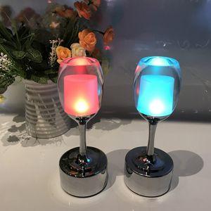 Nuova lampada barra LED di ricarica piccola luce di notte tocco creativo ristorante Wine Cafe lampada da tavolo nostalgico bar