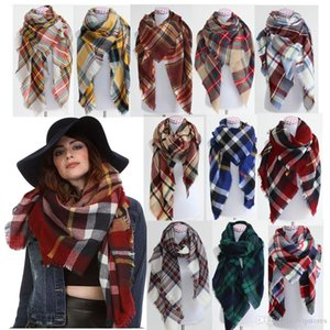 free shipping 12 colors Fashion Plaid Scarf for women Warm Oversized Tartan Scarf Winter Blanket Pashmina Scarves Soft Shawl Scarf Wraps
