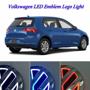 Auto Illuminated 5D LED Car Tail Logo Light Badge Emblem Lamps For Volkswagen VW GOLF Bora CC MAGOTAN Tiguan Scirocco 4D