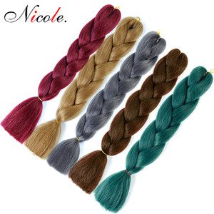 24 Inch Jumbo Braiding Hair Crochet Box Braids 300g Pack Ombre Color Jumbo Braids Soft Synthetic Hair Extensions Free Shipping