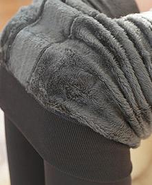 Outono e inverno de pelúcia espessa coreano grande pérola de veludo de uma peça calças leggings mulheres usam calças novas fora térmica