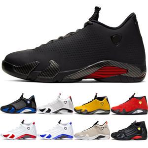 Nike air jordan Retro Zapatos 14s baloncesto de los hombres 14 Zapatos Rojo Hyper Real bastón de caramelo diseñador para hombre de las zapatillas de deporte Deporte Formadores