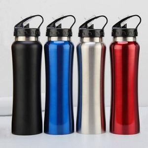 17 Unzen Edelstahl Trinkflasche Karabiner Buckle Vakuumkessel New Travel Isolierkühlvorrichtung Trinkbecher Reise-Becher mit Strohhalm