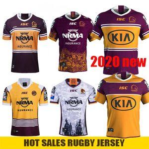 2020 Нового Брисбен Бронкос регби Джерси Brisbane Broncos Анзак 2019 Мужчина коренного Джерси Австралия NRL Регби Размер Джерси