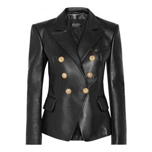 Manteau de fourrure de femmes Costume Printemps Automne réel Veste en cuir véritable femme Vêtements 100% en peau de mouton 2019 Manteau coréen élégant ZT2235