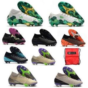 2020 Mercurial Superfly VI Futbol Ayakkabı 360 Elite FG kutusu ile XII 12 cr7 SE Ronaldo Neymar Mens Superfly 7 Elite SE futbol botları Kramponlar
