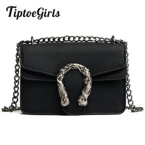 Tiptoegirls Модные женские сумки Новый дизайн Сумки на плечо для девочек Диагональные качественные кожаные дамские сумки Винтажные цепочки Маленькая сумка K4453