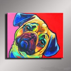 dipinti moderni cane di colore per la casa Artigianato / olio HD Stampa pittura su tela di canapa di arte della parete della tela di canapa Immagini 200517