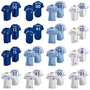 2020 Marcus Stroman Jersey Tulowitzki José Bautista Bo Bichette Josh Donaldson Roy Halladay Roberto jerseys del béisbol cosido personalizada