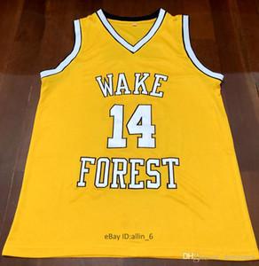 # 14 Muggsy Bogues Wake Forest College Demon Deacons collegio Retro Classic Basketball Maglia Mens cucito numeri personalizzato e maglie nome