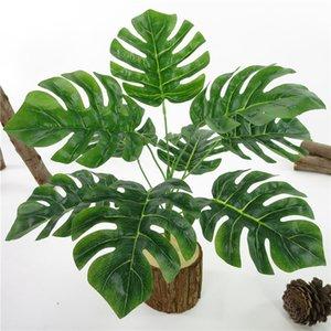Plastic Flowers Artificial Monstera tree Home Garden DIY Plastic Green Artificial Fake Plants Table Decor Fake Plants