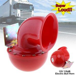 12v 115db Kırmızı Elektrik Raging Bull Air Horn İçin Araç / Kamyon / Motosiklet Hor _006