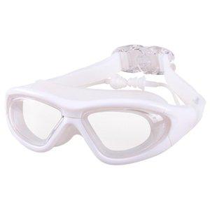 Homme Femme Enfants Protection UV étanche anti-buée transparent Surf Lunettes de natation Lunettes plongée Lunettes PC Objectif