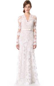 Retro Style Vintage Inspired Lace Wedding Dress Long Sleeves robe de mariée vintage wedding dresses BBG037
