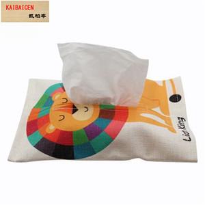 Sublimación Toliet blanco lino caja de almacenamiento de baño de bombeo colgando caja de pañuelos servilleta bolsas de papel cubierta práctica decoración del hogar toalla