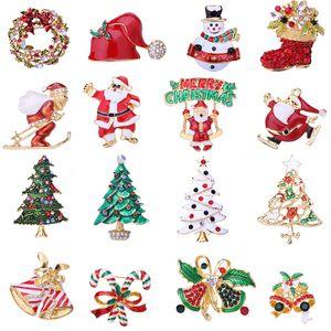 Ev Bell Noel Süsleme Noel Partisi Dekoru Hediyeler için Noel Broş Noel ağacı Yapay elmas Broş Kolye Merry Christmas Dekor