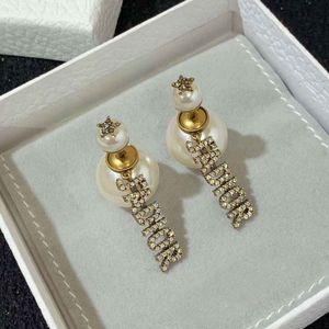 Pendiente superior de la caída de la calidad con la perla y diamante brillante para el compromiso mujeres regalo de la joyería el envío libre PS5612