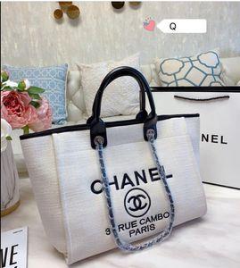 New luxury large canvas tote bag shoulder designer handbag female tote baby cross-body beach bag shopping bag