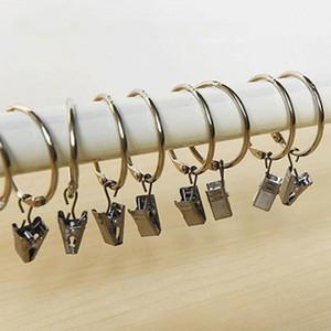 3 cm Überzug Vorhang Ringe Clip Fenster Easy Glide Haken Vorhänge Rod Clips Bad Vorhang Ringe Clip Hause Vorhang Zubehör BC BH0906-1