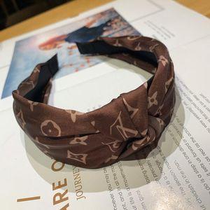 Verano fresco bandas elásticas Diseñador Cinta de cabeza para las mujeres la mejor calidad de lujo del pelo regalos Marca bufanda principal headwraps accessiors