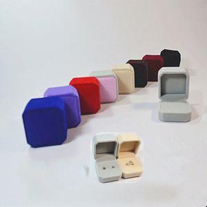 4 * 5 * 5.5 cm Casos de Jóias de Alta Qualidade Reunindo Cor Plástica Anéis Anéis Caixas de Dia Dos Namorados Partido Do Presente Do Envoltório 1 96cs E1